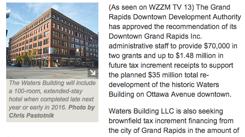 DDA supports $35M Waters Building project