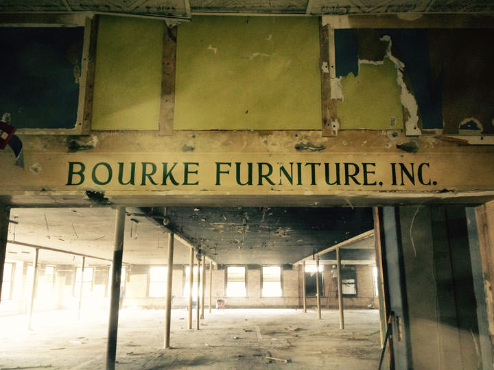 Bourke Furniture Signage Uncovered Today